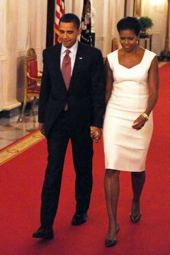 President Obama and Mrs. O at the White House.