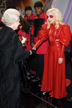 Lady Gaga meets Queen of England
