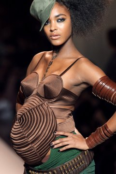 Jourdan Dunn on Jean Paul Gaultier runway.
