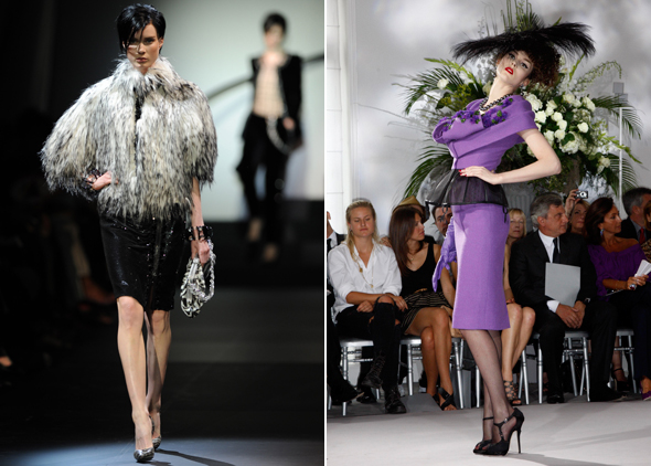 Giorgio Armani Prive Christian Dior Haute Couture A/W 2010 Fashion Show