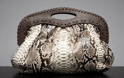 Bird handbags by Liz Carey snakeskin