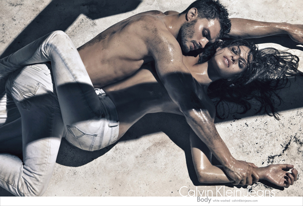 Eva Mendes Jamie Dornan Calvin Klein Jeans Ad Spring 2010