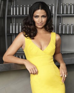 camila alves shear genius host hair yellow dress