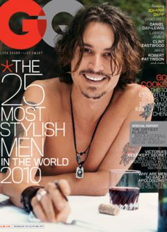 Johnny Depp shirtless GQ february cover most stylish men