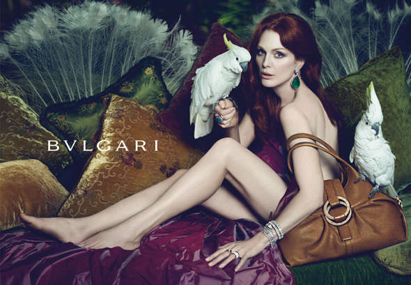 Julianne Moore BVLGARI Spring Summer 2010 advertising campaign