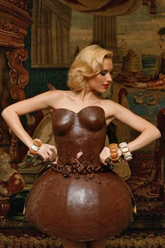 chocolate dresse Lambertz german fashion