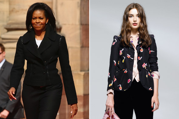 Michelle Obama Black Jacket Sonia Rykiel