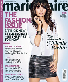 Nicole Richie Marie Claire UK March 2010 Cover