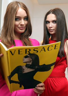 versace models store opening australia