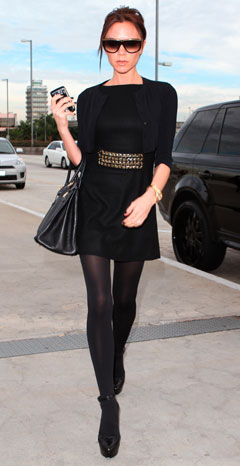 victoria beckham american idol stylist black dress