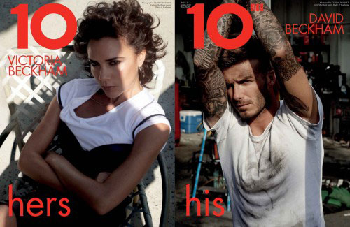 victoria beckham david beckham 10 magazine cover