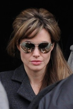 Angelina Jolie Bangs Highlights Venice Italy