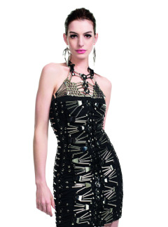 anne hathaway instyle black and silver dress march