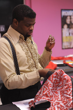 Project Runway Anthony Williams sewing