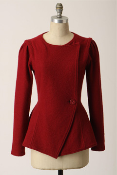 Anthropologie acclimate sweater red