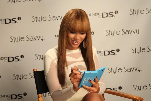Beyonce Playing Nintendo Style Savvy Commercial Set