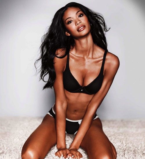 Chanel Iman victoria's secret body for everybody lingerie ad campaign