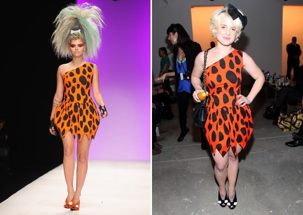 Kelly Osbourne Jeremy Scott Flintstones
