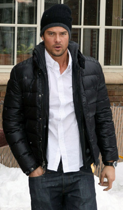Josh Duhamel Coach jacket Fergie
