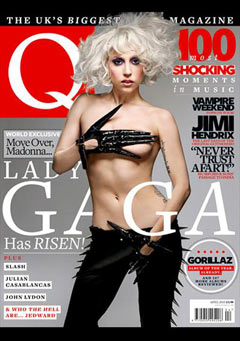 Lady Gaga topless Q Magazine April Issue