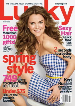 Keri Russell Lucky Magazine March Issue