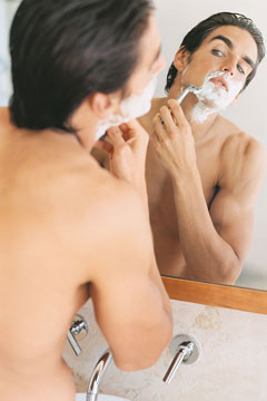 Man shaving