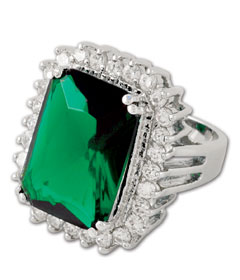 melania trump emerald green ring QVC