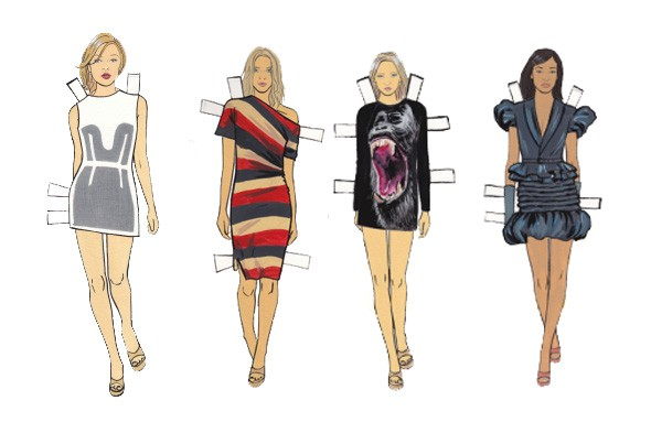 gemma ward jessica stam erin wasson jourdan dunn model paper dolls