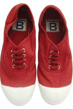 bensimon red sneakers