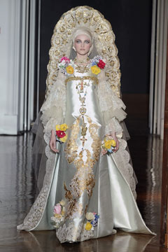 Christian Lacroix Haute Couture Paris runway bride