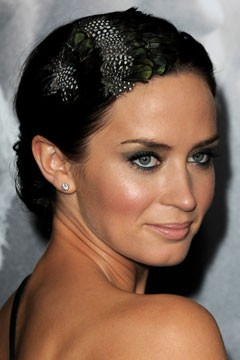 Emily Blunt Feather Headband