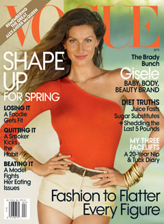 Gisele Bundchen Post-Baby Body Vogue SHape Issue Cover