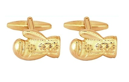 gold boxing glove cufflinks