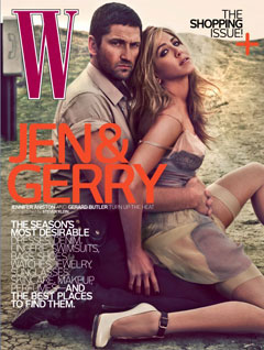 Jennifer Aniston Gerard Butler W Magazine April