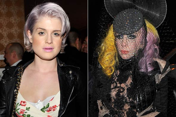 Kelly Osbourne Lady Gaga Lavender Hair