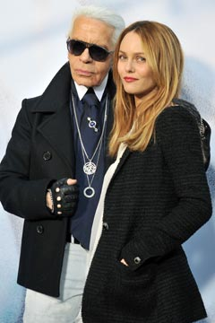Karl Lagerfeld and Vanessa Paradis