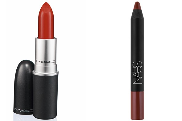 MAC Russian Red Lipstick Nars Lip Stain Gloss in Sayonara