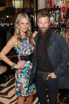 Molly Sims and Aaron Eckhart at Grayce by Molly Sims the Collection jewelry launch