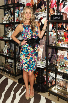 Molly Sims at Grayce by Molly Sims the Collection jewelry launch