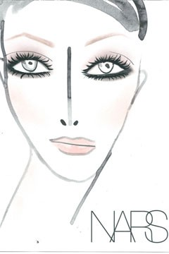 NARS Cosmetics Marc Jacobs Fall 2010 Fashion Show Face Chart