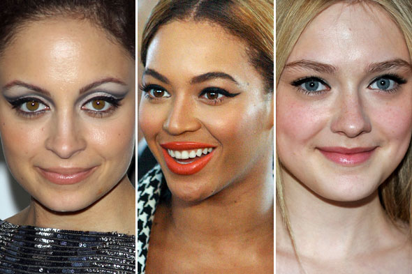 Nicole Richie Beyonc&eacute; Dakota Fanning Eyeliner Cat Eyes