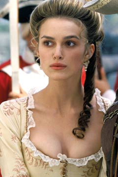 keira knightley pirates of the caribbean cleavage