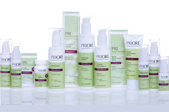 Priori Coffeeberry Skincare Line