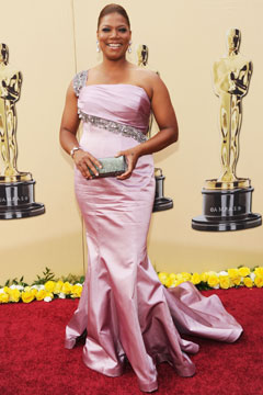 queen latifah dress oscars 2010
