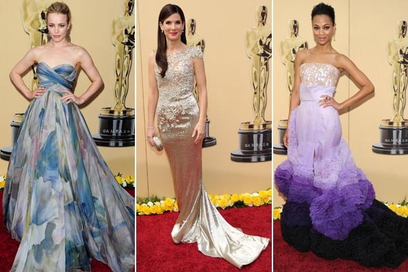 Rachel Mcadams Sandra Bullock Zoe Saldana Oscars 2010