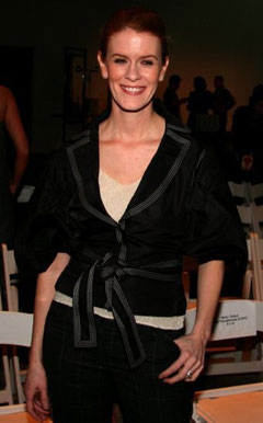 alex mccord real housewife new york city black jacket fashion week