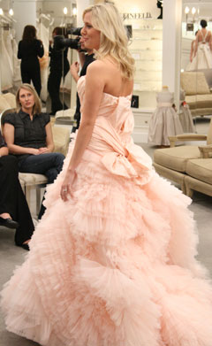 say yes to the dress peach wedding dress kleinfeld