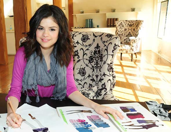 Selena Gomez Fashion Line Dream Out Loud Kmart sketching 