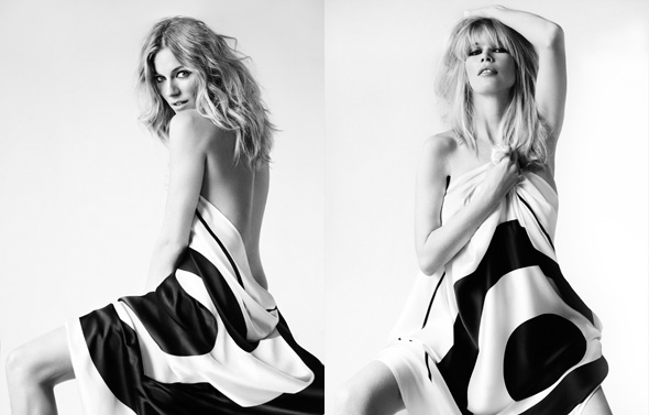 sienna miller claudia schiffer sheet Fashion Targets Breast Cancer 2010 campaign