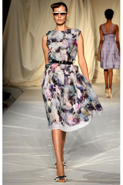 watercolor print dress cynthia rowley